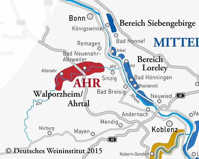 German wine region Ahr