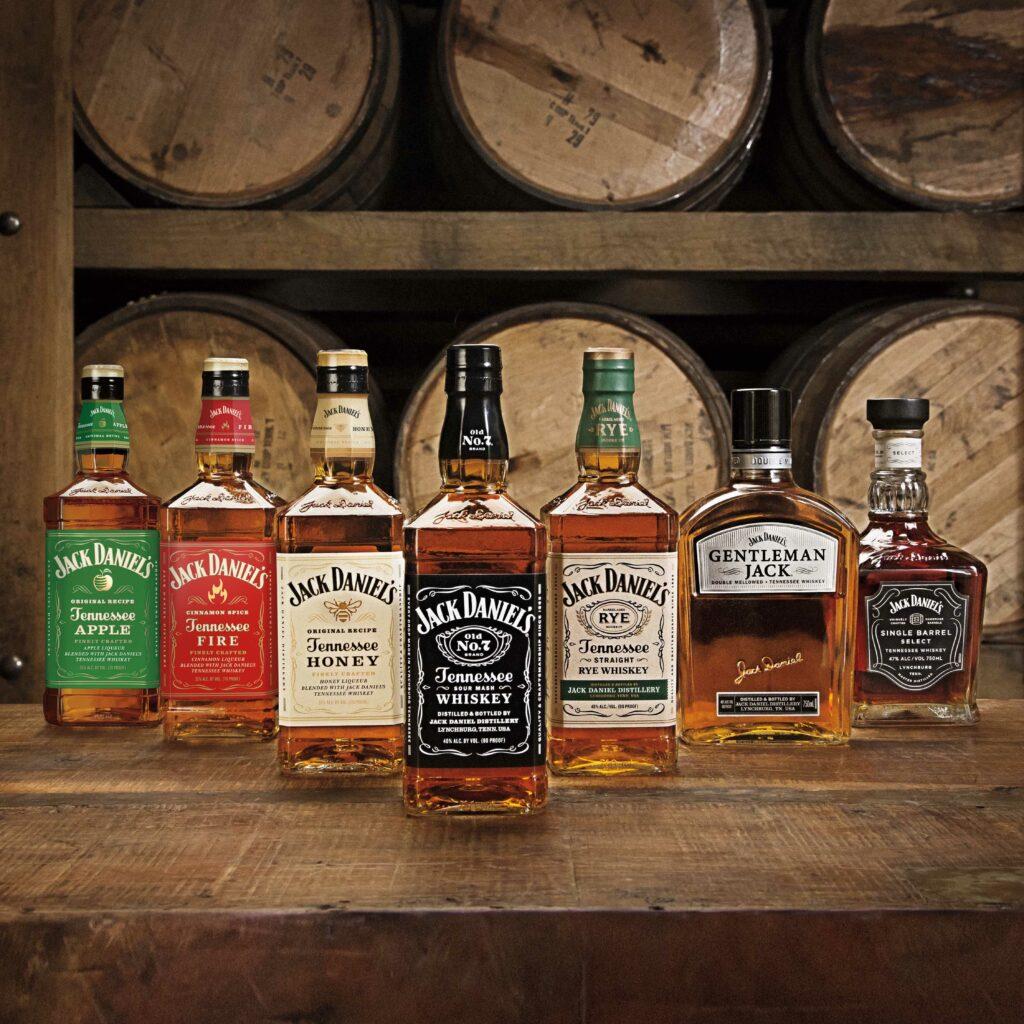 Tennessee whiskey spirits brand Jack Daniels